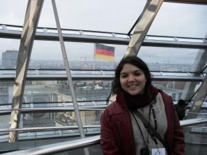 Vista de Berlim através da cúpula de vidro do Parlamento