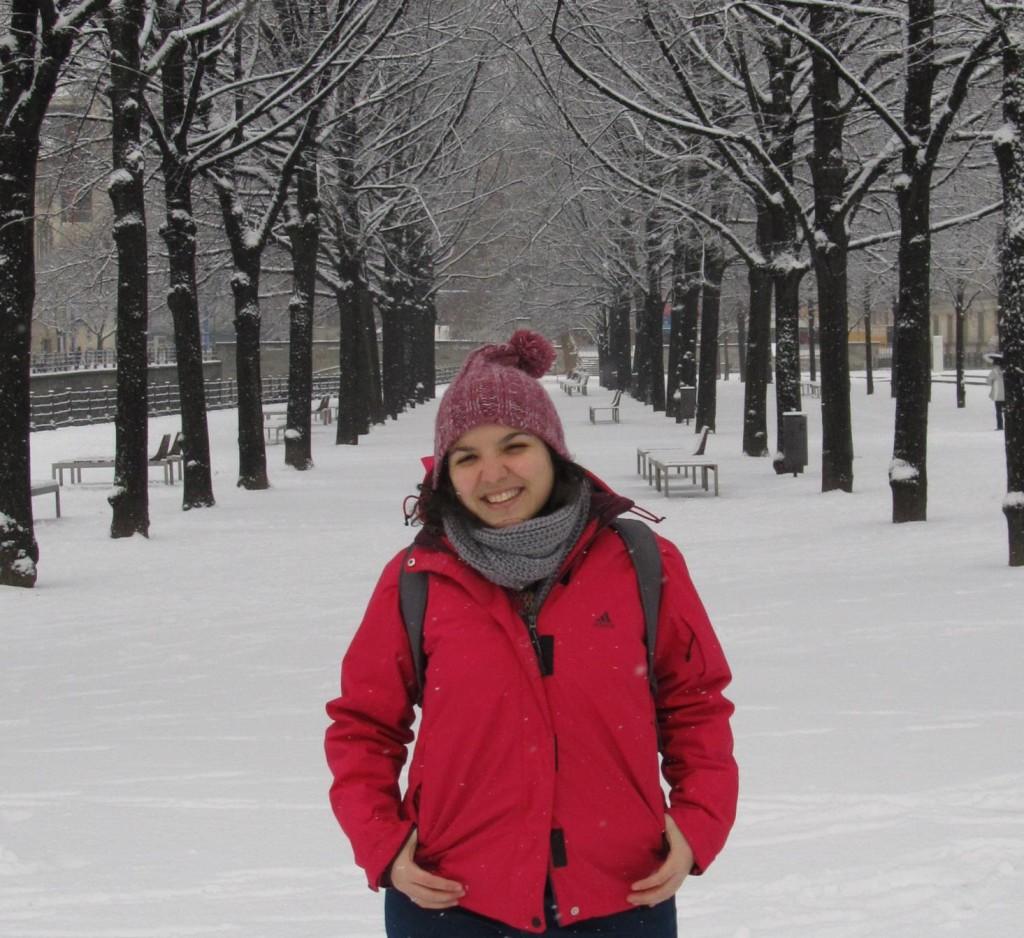 eu no inverno em berlim