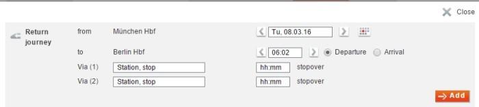 Como comprar bilhete de trem na Alemanha - tela retorno