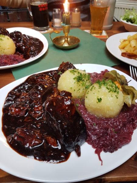 Comida alemã cervejaria quedlinburg