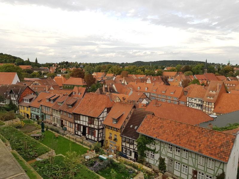 Vista da abadia em Quedlinburg