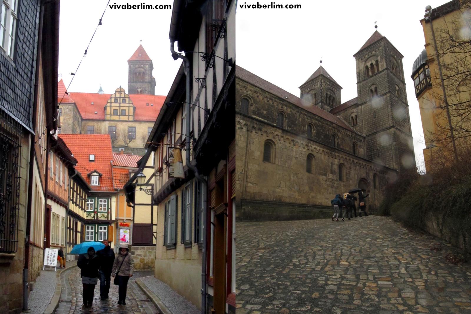 Vista para a colina do castelo (à esq.) e Convento (à dir.)