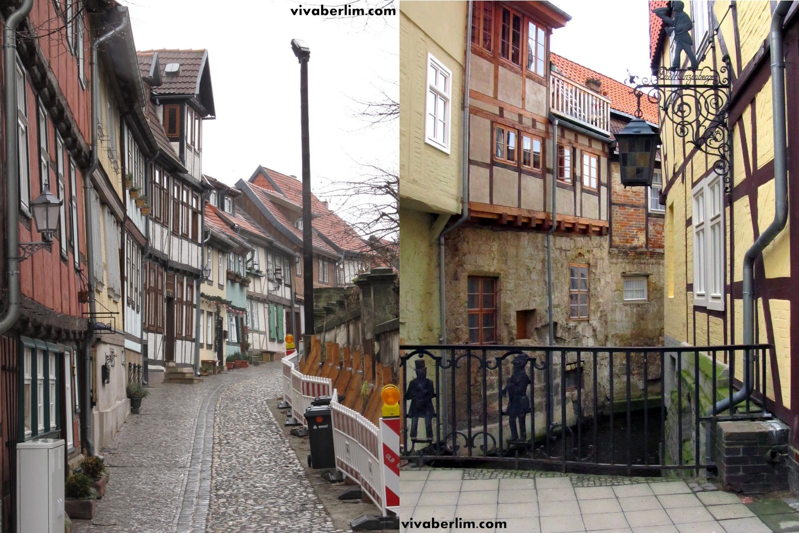Ruazinha e canal em Quedlinburg