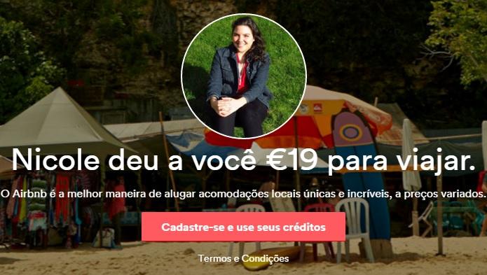 Ganhe créditos no Airbnb