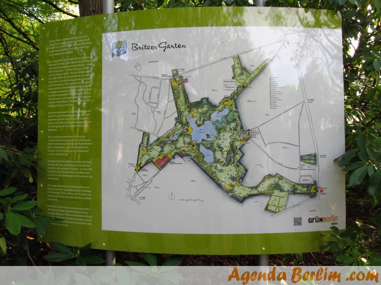 Mapa do Britzer Garten - AgendaBerlim.com