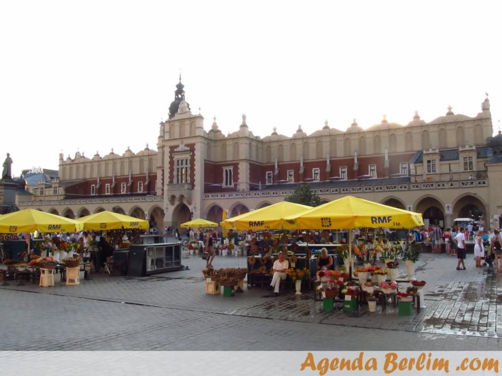 Praça do mercado em Cracóvia