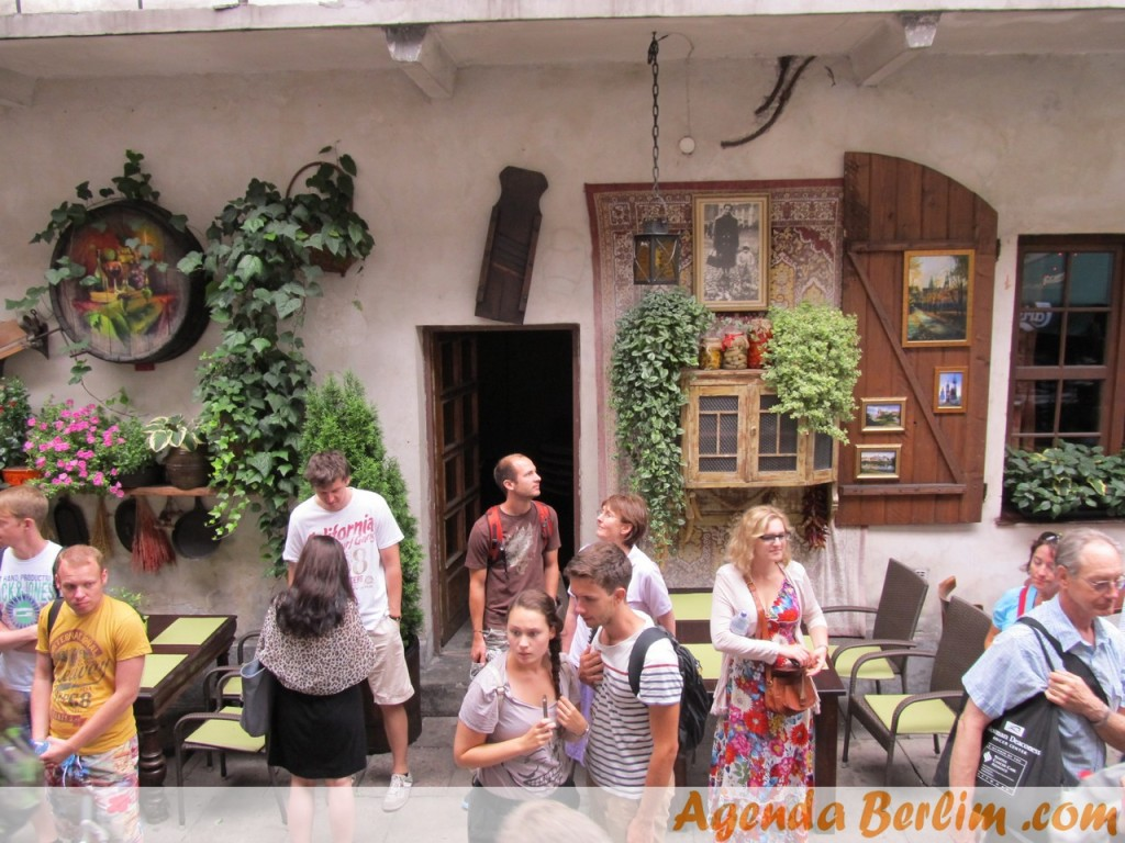 Pátio no bairro judeu (Kazimierz)