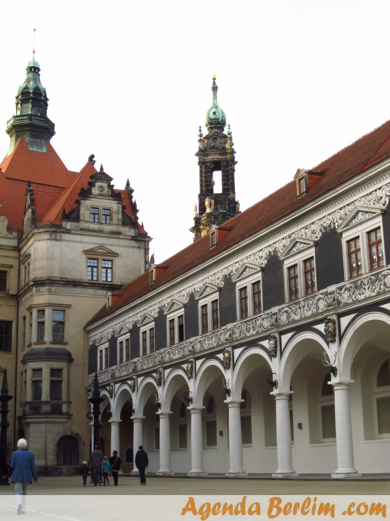 De Berlim a Dresden: pátio de torneios