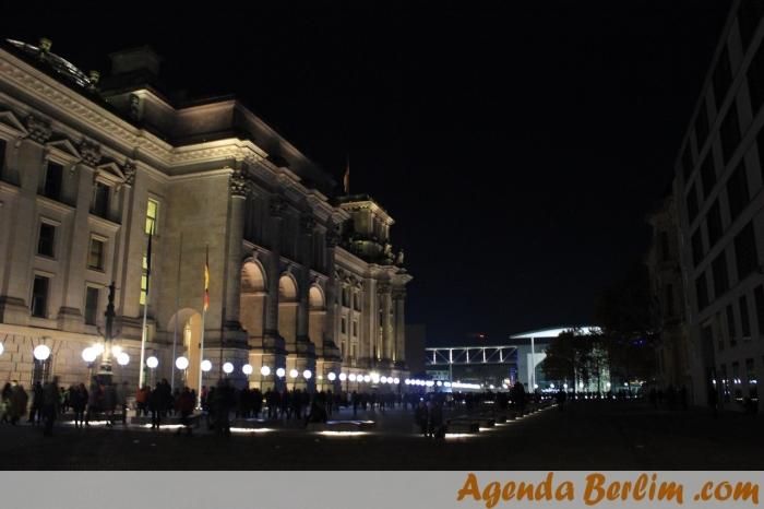 Por trás do Parlamento Alemão