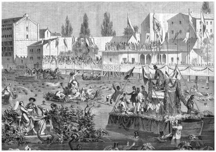 O rio Spree no século XIX