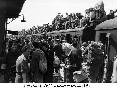 Berlim, 1945: chegada de refugiados do front oriental