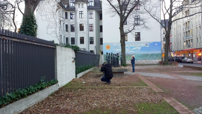 Passeando pelo bairro judeu num dia muito frio...